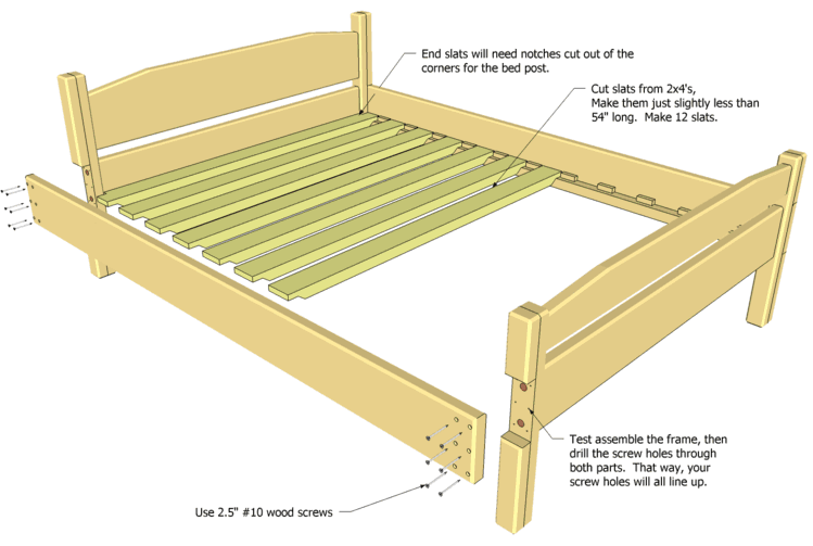 Double Bed Frame double bed plan
