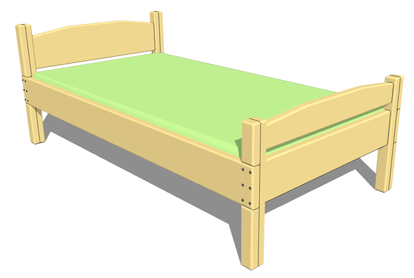 twin size bed plan