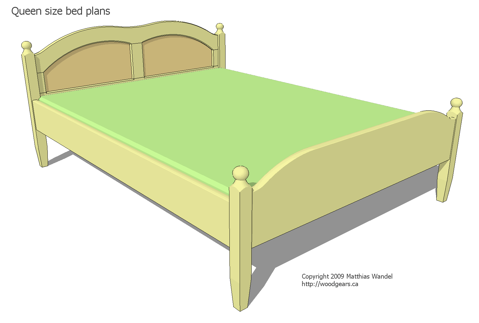 Queen size bed plans Mattress queen size