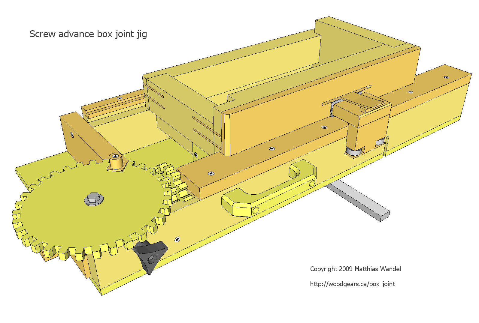 Wood Work Woodworking Finger Joint Jig PDF Plans