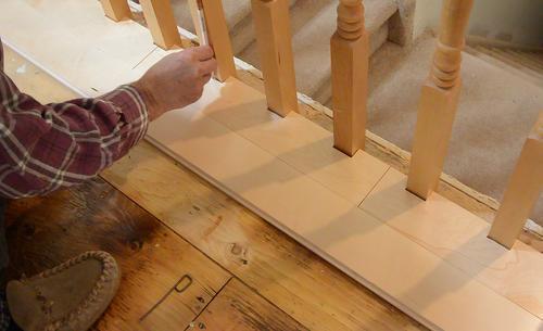 Fitting Flooring Around Stair Rail Spindles