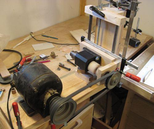 Homemade horizontal boring machine
