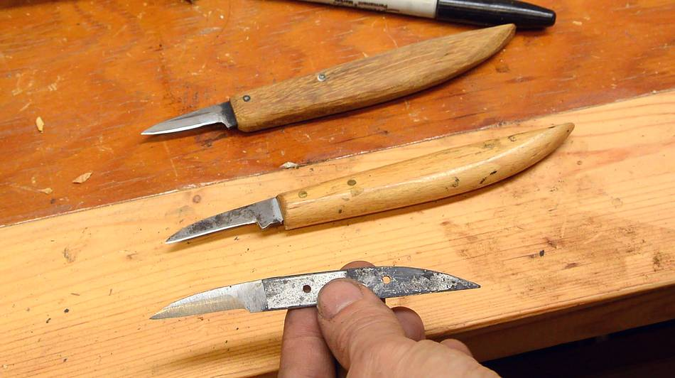 Making a german chip carving knife