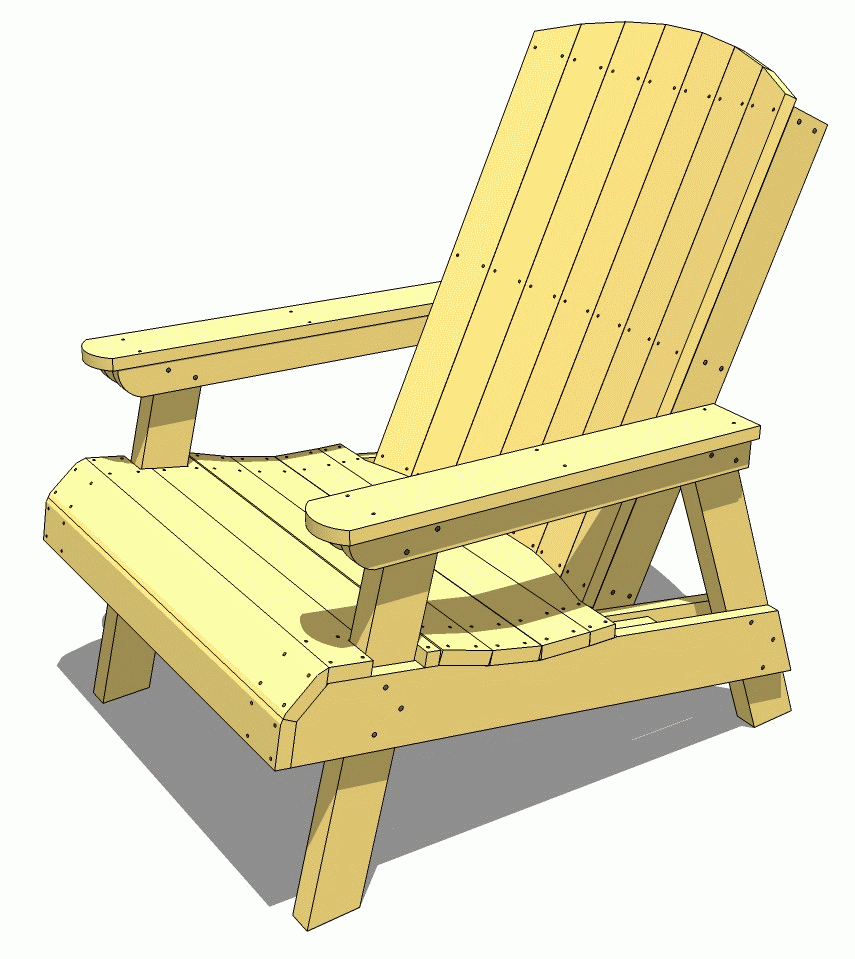 Wooden Garden Chair ~ Lawn chair plans