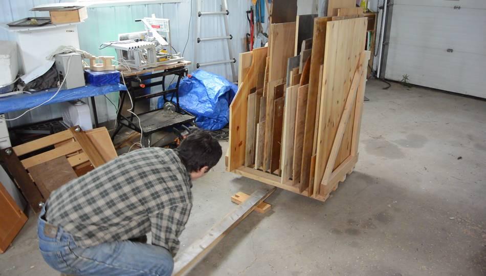 Making a sheet goods lumber cart for Sheet goods cart