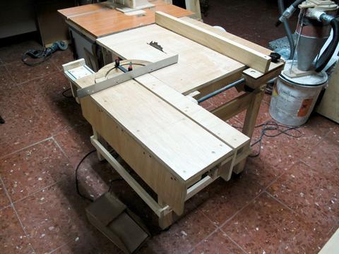 sliding table saw. sliding table saw