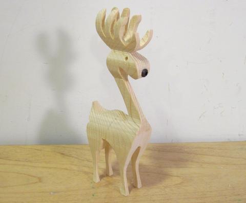 3d Wooden Reindeer Pattern