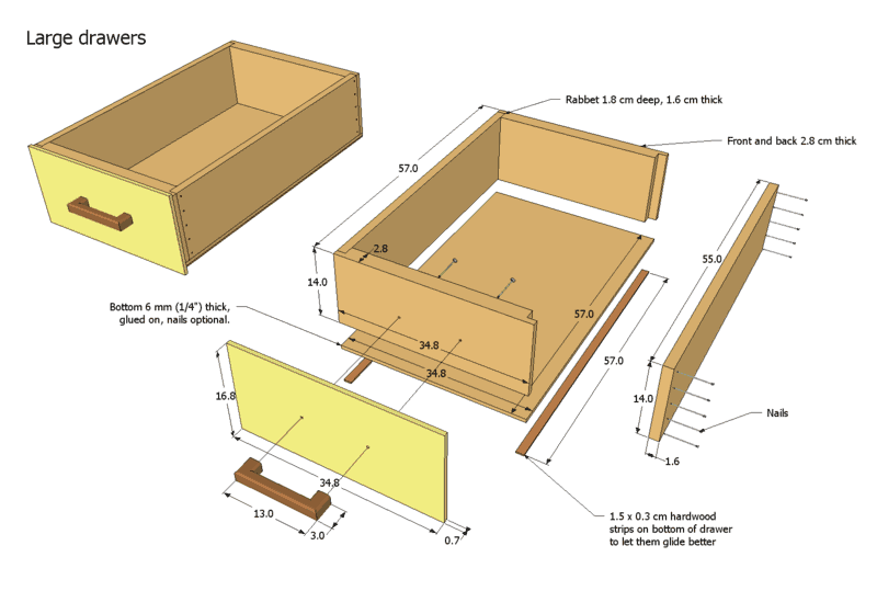 More details on making drawers and drawer handles