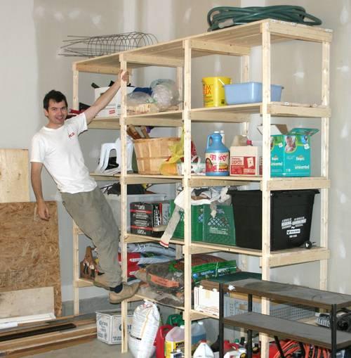 Garage Shelf Plans: Building Storage Shelves