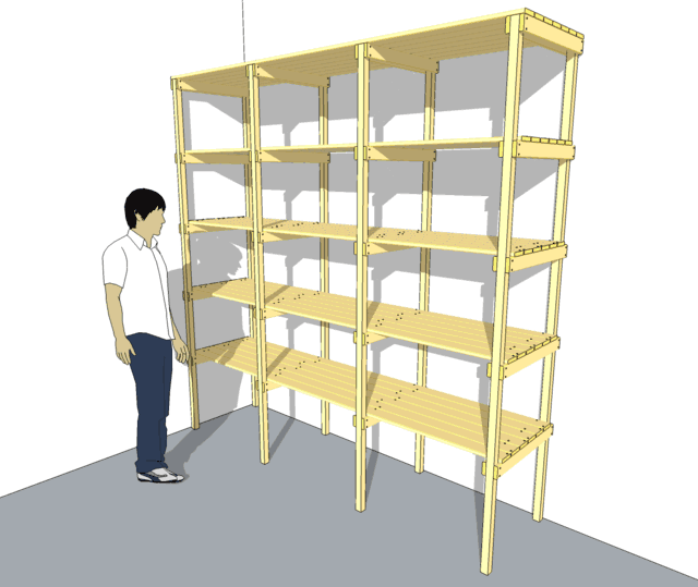 wood storage shelves plans