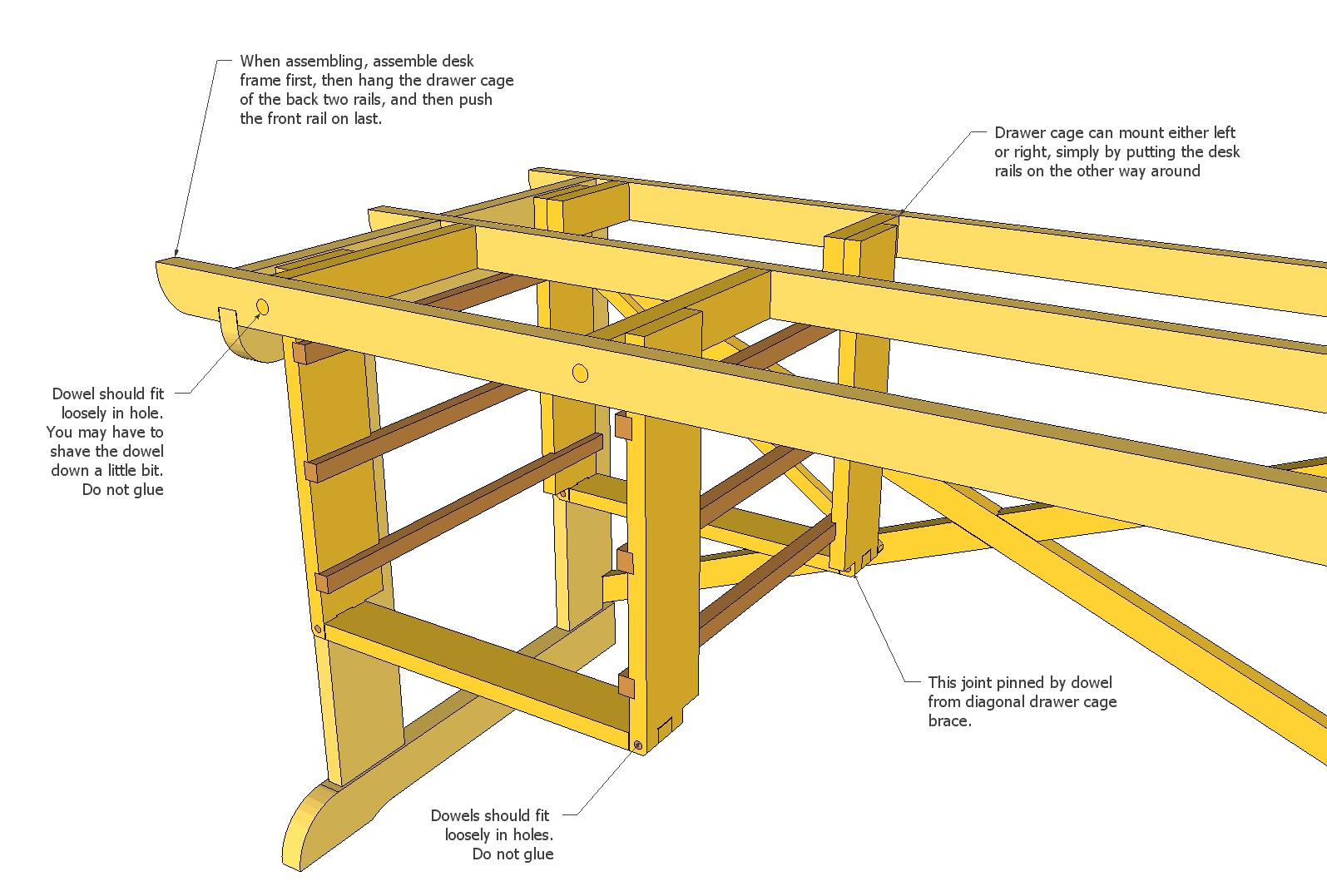 plans for a desk