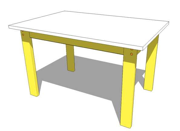simple wood table plans